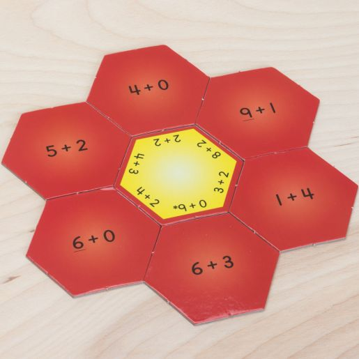 Hexagon Puzzles - Addition Within 10
