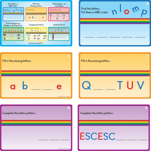 Magnetic Alphabet Arc And Task Cards