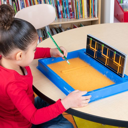Plastic Sand Tray With Sand And Letter And Number Formation Cards