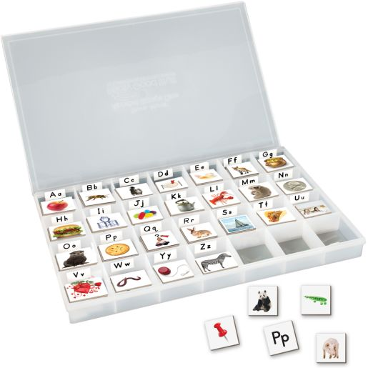 EZread™ Magnetic Photo Tiles: Beginning Sounds With Storage Case