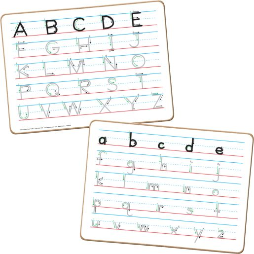 Trace 'N' Erase Non-Magnetic, Two-Sided Alphabet Dry Erase Boards