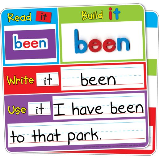 Magnetic Read, Build, And Write Boards With Magnetic Sight Words And Letters Kit