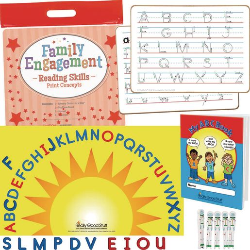 Family Engagement Reading Skills - Print Concepts