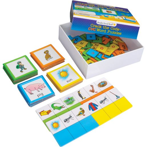 Crack The Code CVC Word Puzzles