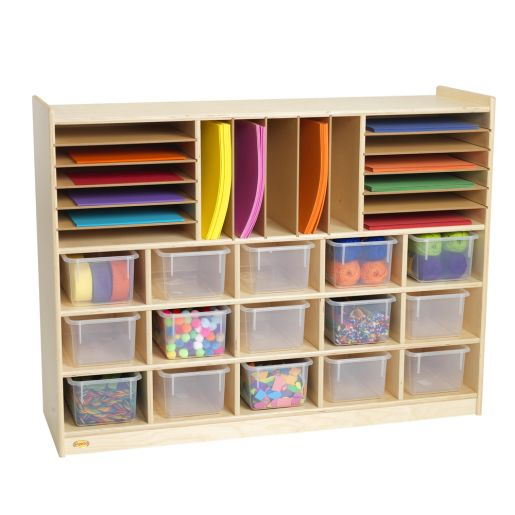 Sectioned Mobile Storage - With Clear Trays
