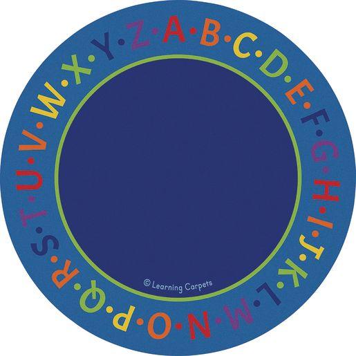 Alphabet Border Premium Carpet - 6' Round