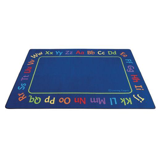 Alphabet Border Value Carpet - 8' x 12' Rectangle
