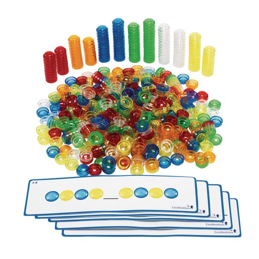 Excellerations® Translucent Stackable Counters 500 Pcs_0