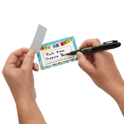 Reward Card with Scratch-Off Stickers, Pack of 3
