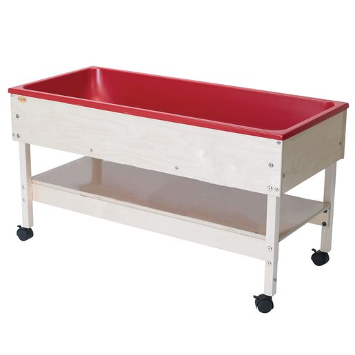 Toddler Sand & Water Table with Shelf and Lid