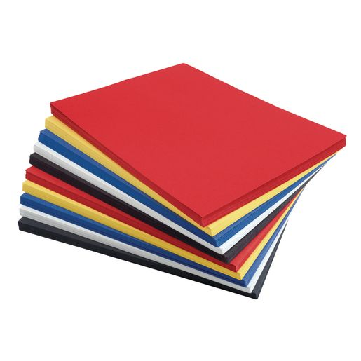 """Primary Colors Construction Paper with Storage Bin, 5 Colors, 500 Sheets, 9"""" x 12"""""""