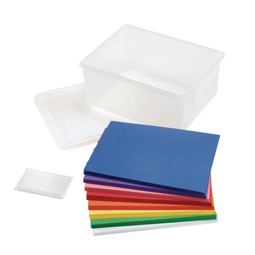 """Rainbow Colors Construction Paper with Storage Bin, 8 Colors, 400 Sheets, 9"""" x 12"""""""