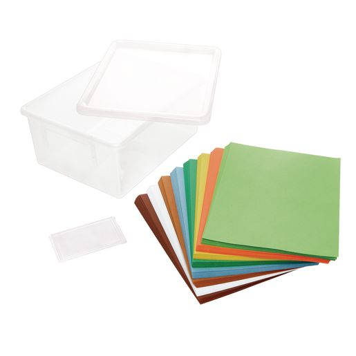 """Colors of Nature Construction Paper with Storage Bin, 8 Colors, 400 Sheets, 9"""" x 12"""""""
