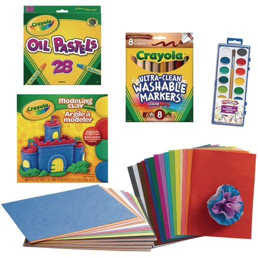 School Age Art Kit, 7 Art Supplies Collection