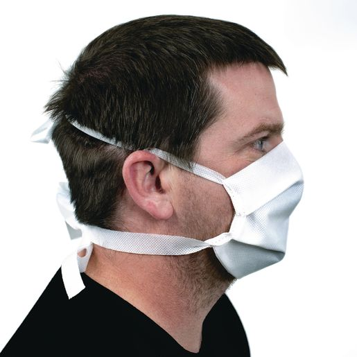 Pleated Face Covering - Tie-Back Size Adult - Case of 25_2