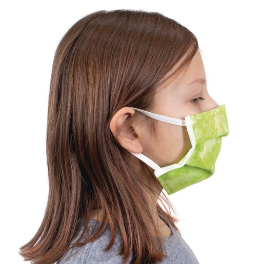 Cotton Pleated Face Covering - Elastic Loop Ear Size Youth Ages 4-10 - 20-Pack_3