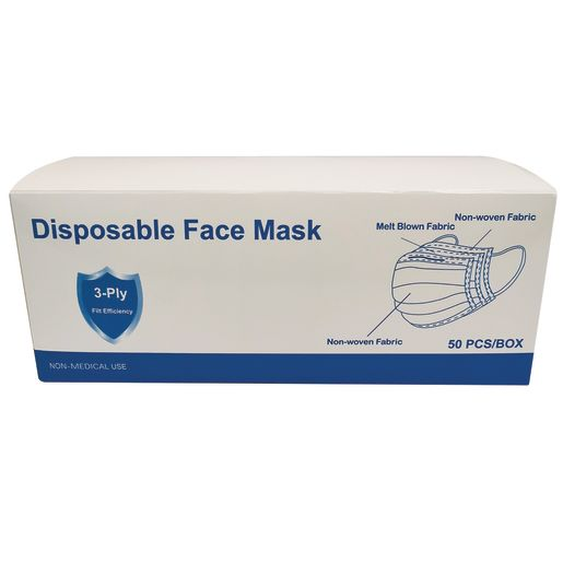 Disposable Face Masks Adult-Size 50-Pack_2