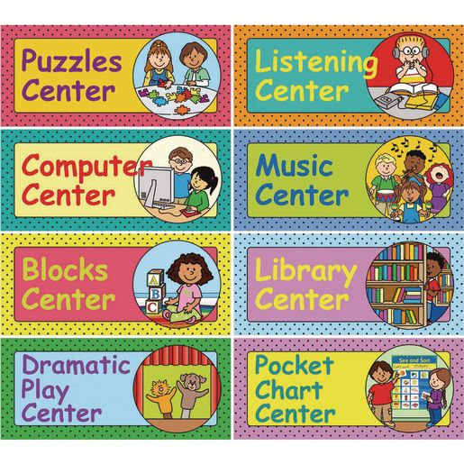 Early Elementary Centers EZ-Tuck Clip 'N' Track Pocket Chart? Card Refill