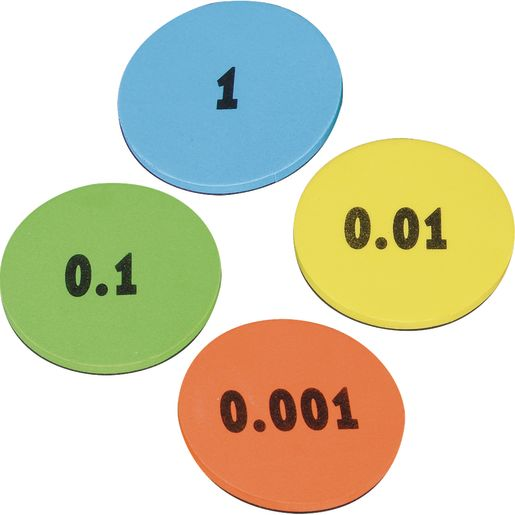 Decimal Place Value Foam Tokens Demonstration Magnets