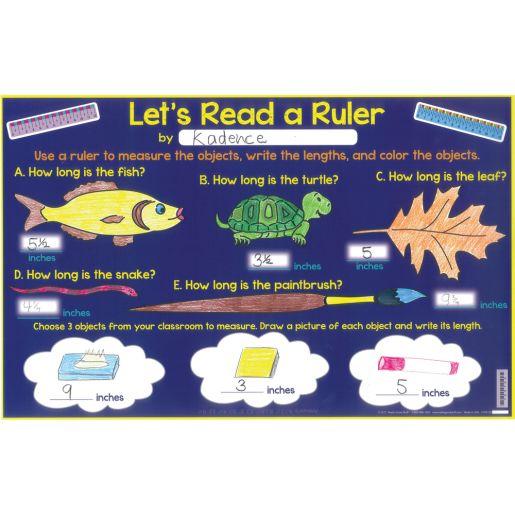 Let's Read A Ruler Activity Mats
