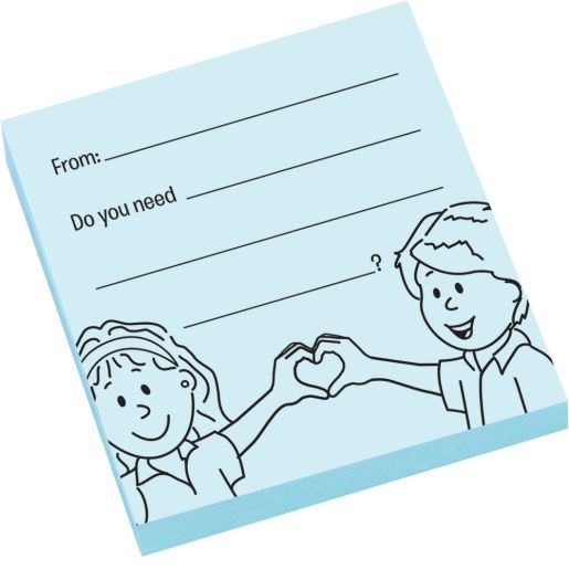 Give What You Can, Take What You Need Sticky Note Pads - 100 notes