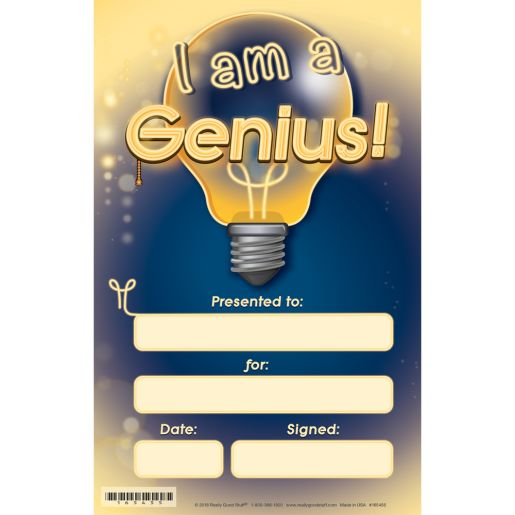 Genius Hour Certificates