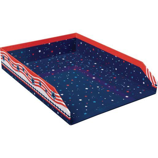 Star-Spangled Teacher Paper Tray