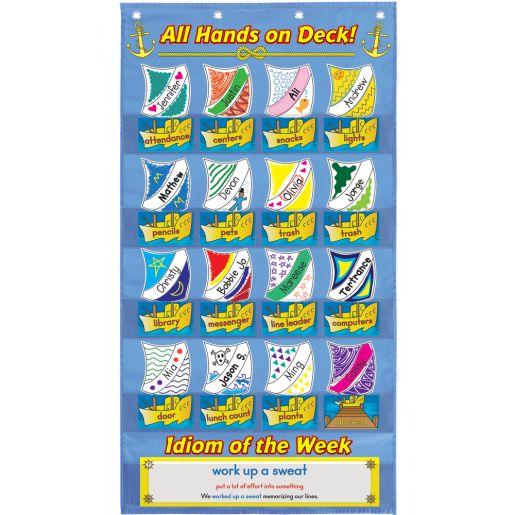 All Hands On Deck Idiom Job Chart Sails Refill Kit