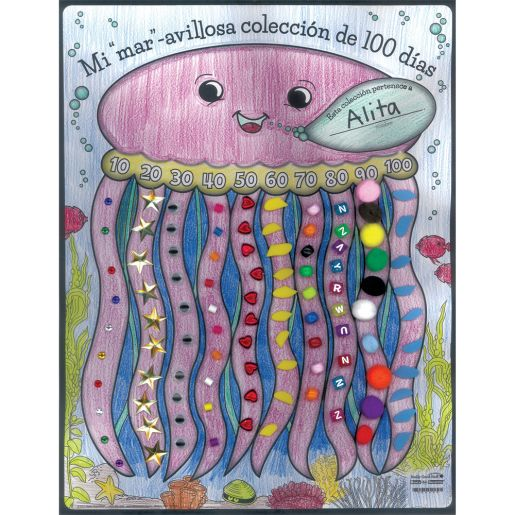 "P�ster Mi Colecci�n de 100 Dias (Spanish Ready-To-Decorate® ""Sea"" My 100th Day Collection Posters)"