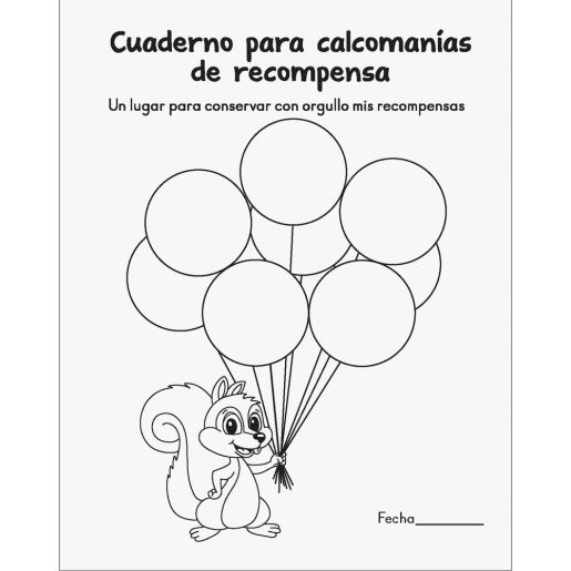 Cuaderno para calcomanas de recompensa (Spanish Sticker Reward Books)