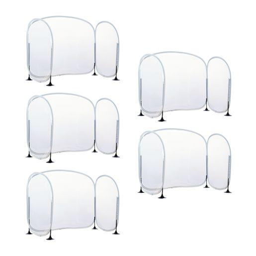 Excellerations Fold-Up Portable Desktop Barrier Set of 5