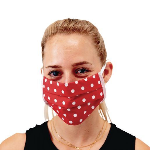 Image of Cotton Pleated Face Covering - Elastic Loop Ear Size Adult - 20-Pack