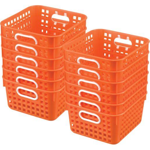 Book Baskets - Square - Set of 12 - Orange