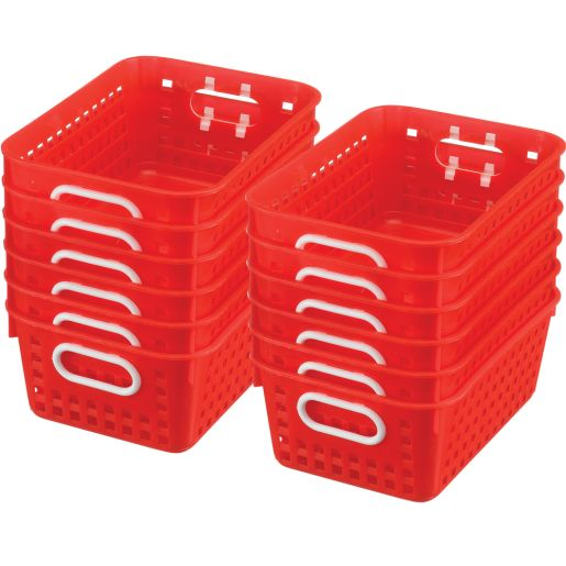 Book Baskets - Medium Rectangle - Set of 12 - Red