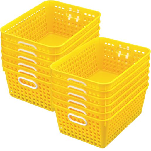 Book Baskets - Large Rectangle - Set of 12 - Yellow