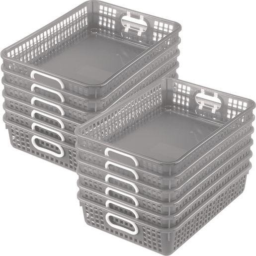 Classroom Paper Baskets - Set of 12 - Pebbles