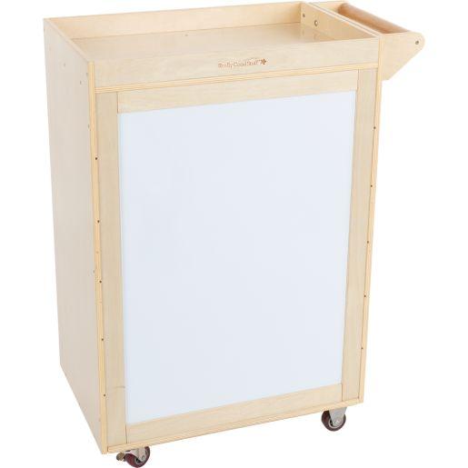 Rolling Organizer Magnetic Dry Erase Board