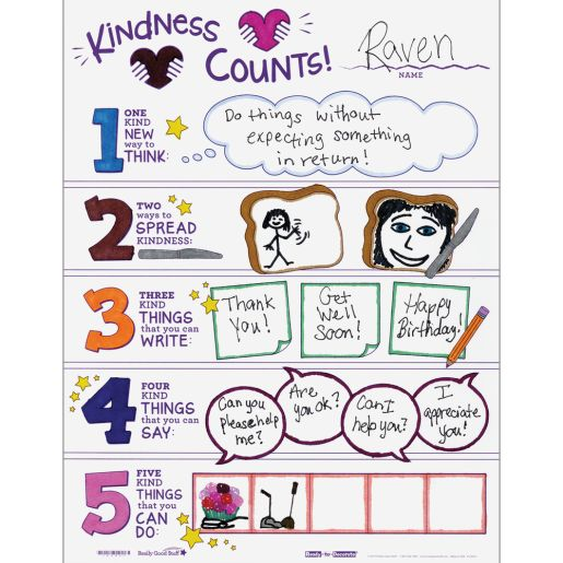 Ready-To-Decorate® Kindness Counts Posters - Set of 24