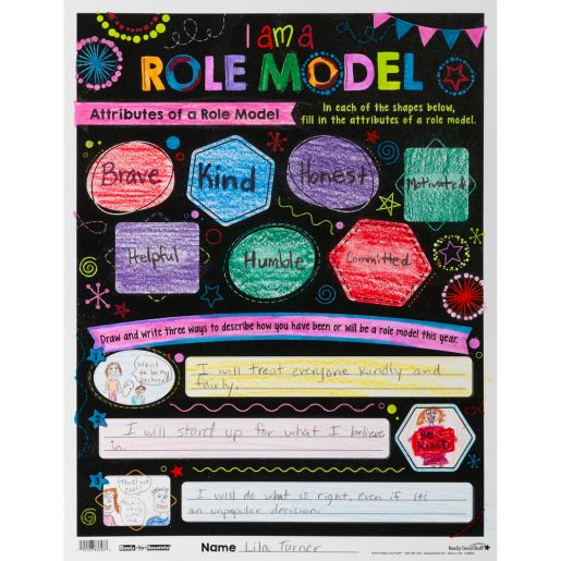 Ready-To-Decorate Be A Role Model Posters 24 Pack