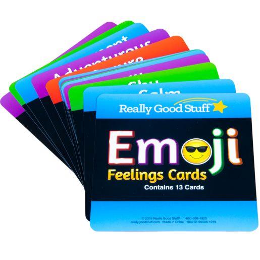 Emoji Feelings Cards - Laminated - Set of 12
