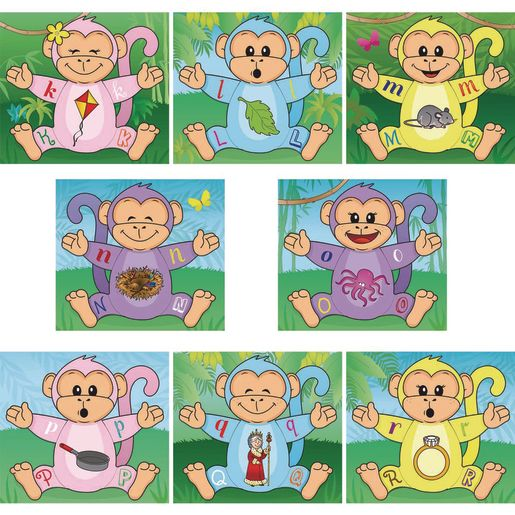 Monkey Matching Letter Puzzles
