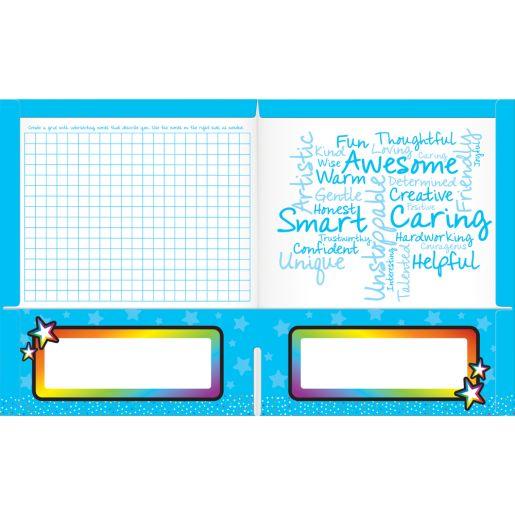 Sensory Breathing Star Tactile Calming Folders - 2 Pocket - 12 Pack