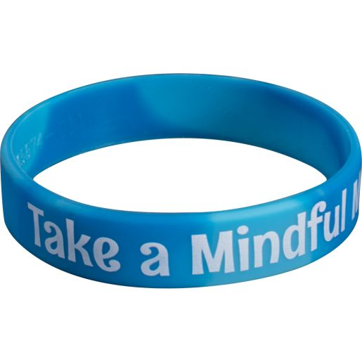 Take A Mindful Minute Silicone Bracelets - Set of 24