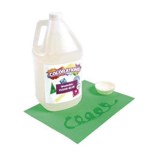 Colorations® White & Clear Liquid Glue, 1 gallon of each