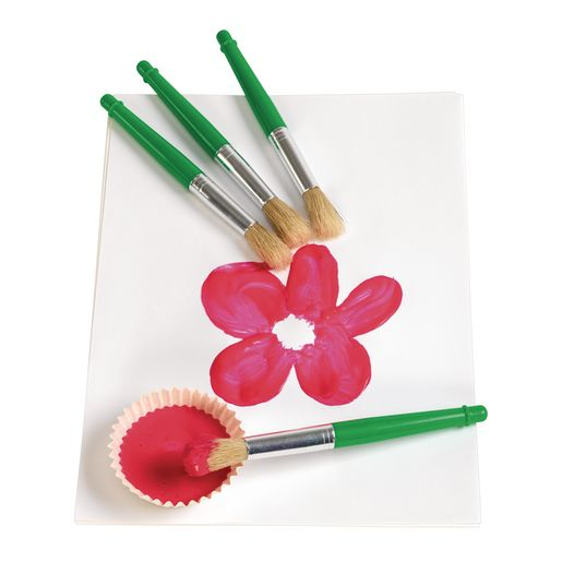 Colorations Jumbo Chubby Paint Brushes - 4 Pieces