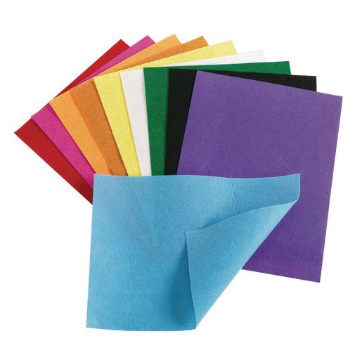 "Colorations Felt Sheets, 10 Colors, each 9"" x 12""_0"