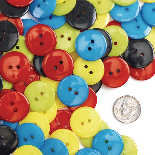 Colorations Craft Buttons, Set of 100_3