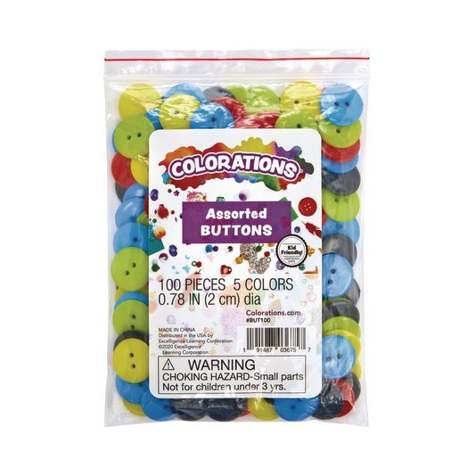 Colorations Craft Buttons, Set of 100_4