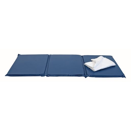 "1"" Best Value Tri- Fold Rest Mat - Blue, Set of 5"