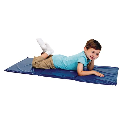 "1"" Best Value Tri- Fold Rest Mat - Blue, Set of 10"